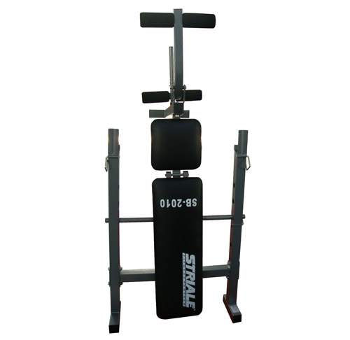 Banc de musculation sb 2010 pliant striale fitnessboutique - Banc de musculation avec barre de traction ...
