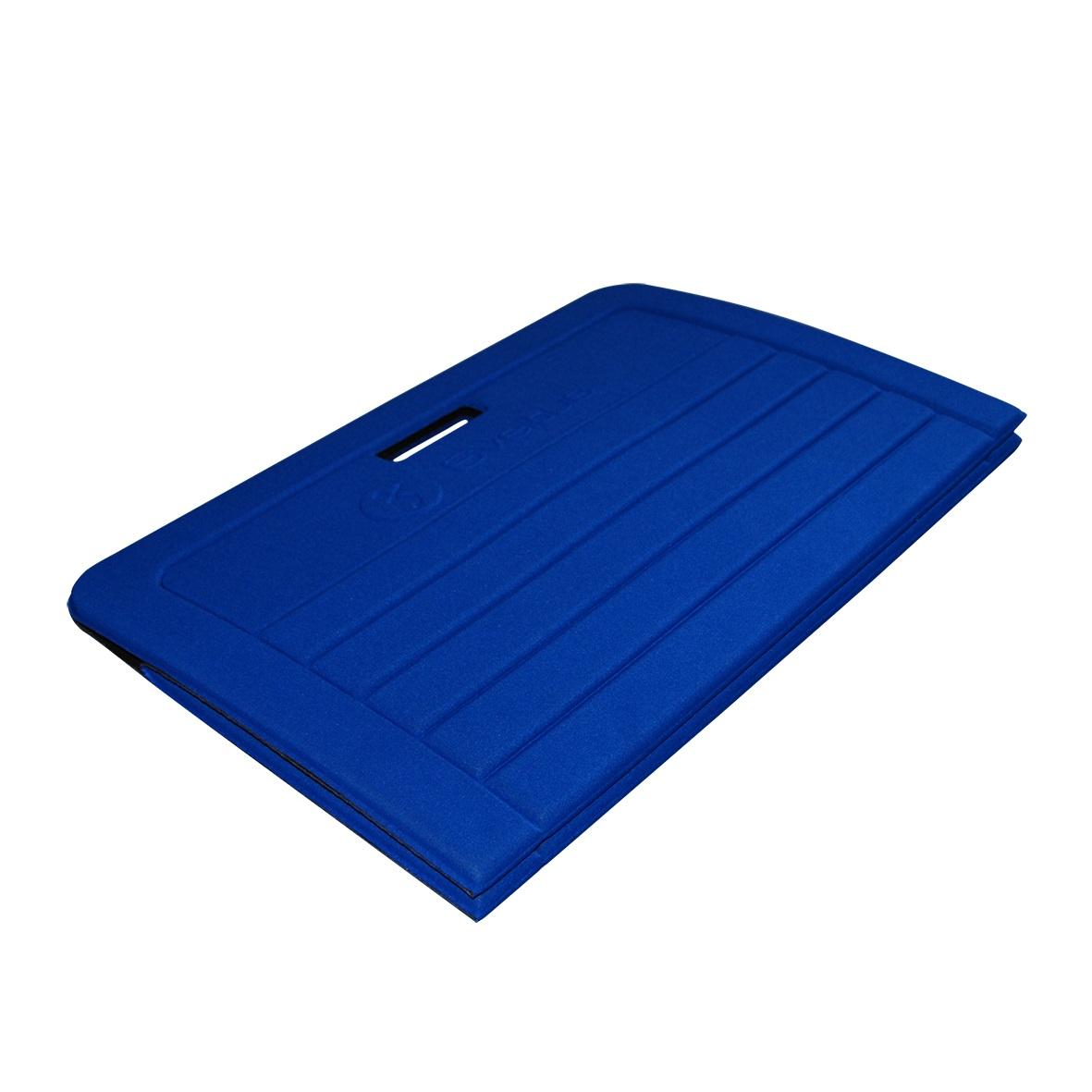 natte de gym tapis de protection tapis de gym pliable sveltus bleu 1400 x 600 x 10 mm