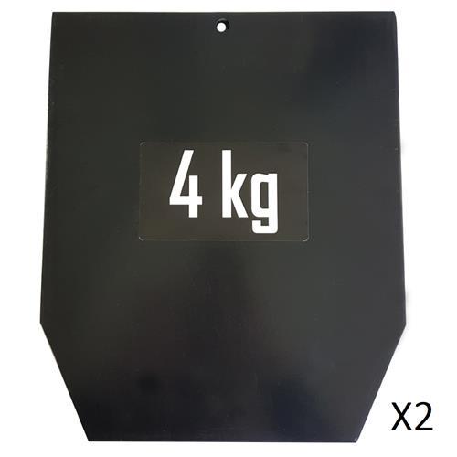 Accessoires Fitness Plaques 4 kg pour gilet lesté 15 kg (la paire)