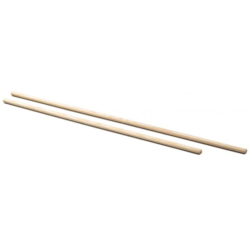 Sveltus Lot de 10 barres en bois 140 cm