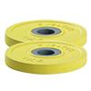 Standard - Diamètre 28mm Paire de disques 1kg couleur jaune