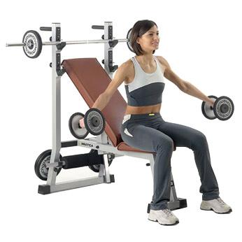 banc de musculation technogym pratica kit 85kg. Black Bedroom Furniture Sets. Home Design Ideas