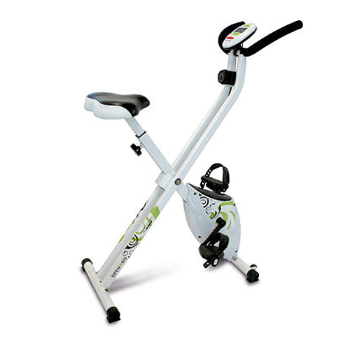 V lo d 39 appartement tecnovita open go bike blanc vert - Velo d appartement pliable occasion ...