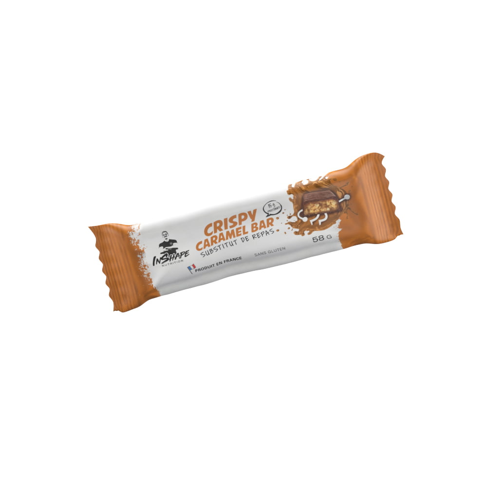InShape Nutrition Barre Crispy Caramel - Substitut de repas