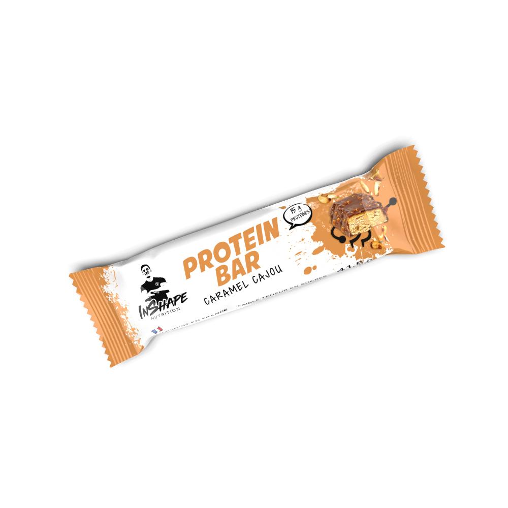 InShape Nutrition Barre Protéinée Caramel Cajou