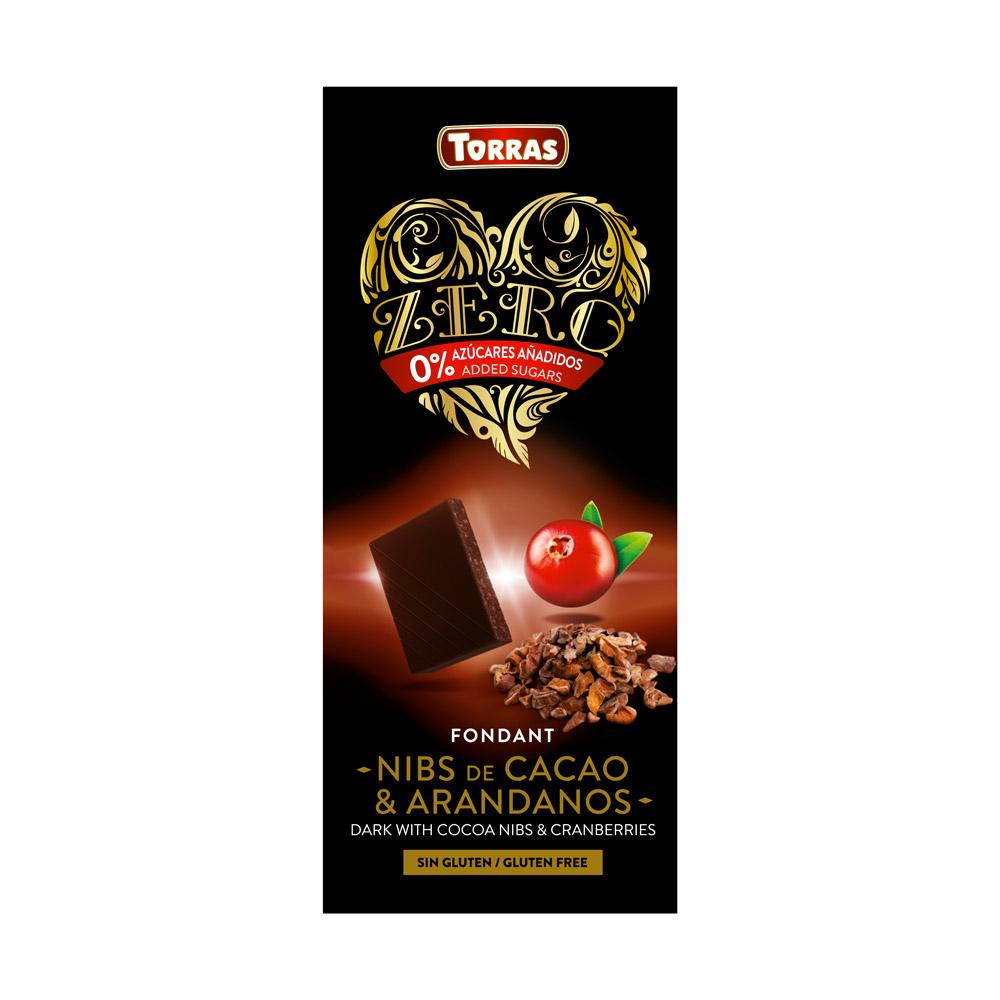 Torras Chocolat Noir Cranberries