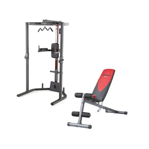 Smith Machine Weider Pack Power Rack + Banc Pro 255 L
