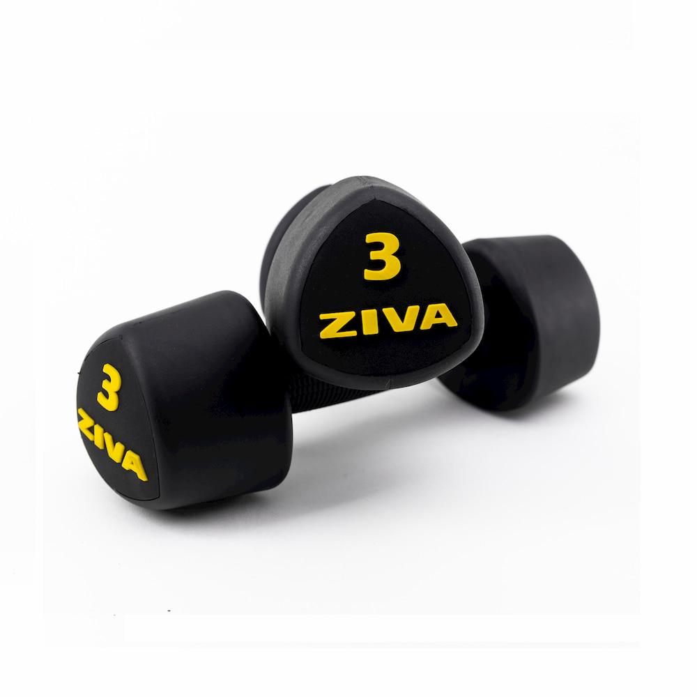 Ziva Studio Tribell Dumbellset (2 x 1kg, 2kg and 3kg)