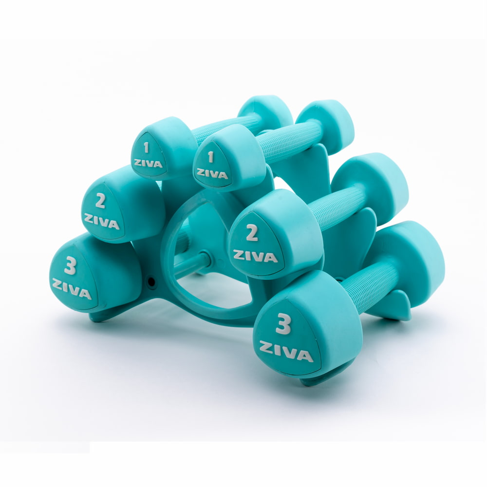 Ziva Studio Tribell Dumbellset (2 x 1kg, 2kg and 3kg)