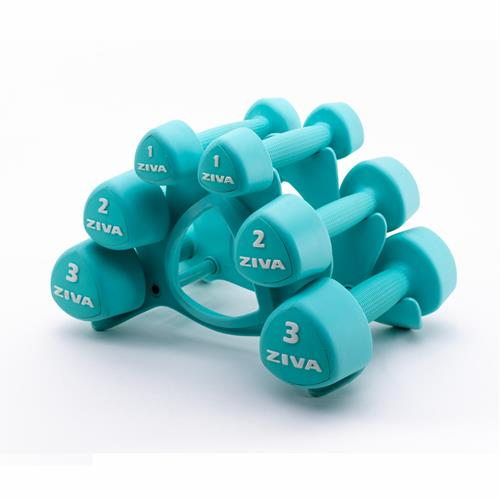 Haltères Studio Tribell Dumbellset (2 x 1kg, 2kg and 3kg)
