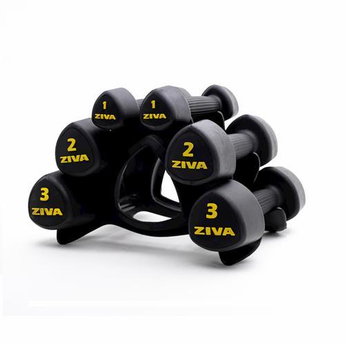 Barres et haltères spécifiques Ziva Urethan Studio Tribell Set (2 x 1kg, 2kg, 3kg)